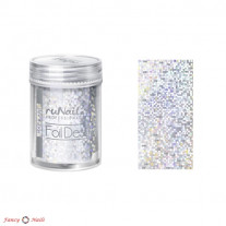 ruNail Фольга для ногтей - серебряная, голографическая