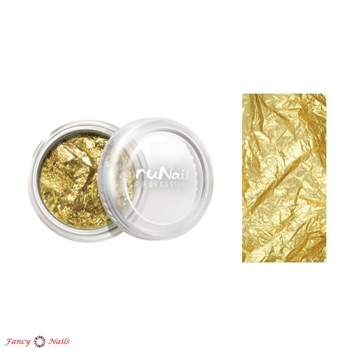 отрывная фольга для ногтей золотая