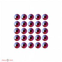 Стразы для маникюра круглые - цвет Siam AB - 72 шт