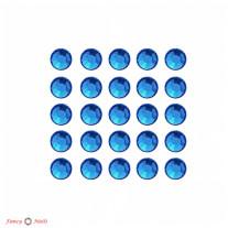 Стразы для маникюра круглые - цвет Sapphire - 72 шт