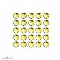 Стразы для маникюра круглые - цвет Jonquil - 72 шт