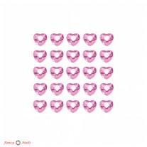 Стразы для ногтей сердечки - цвет Rose - 72 шт