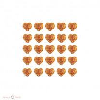 Стразы для ногтей сердечки - цвет L/Topaz - 72 шт