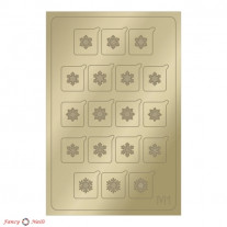 Aeropuffing Metallic Stickers - №M01 Gold