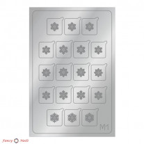 Aeropuffing Metallic Stickers - №M01 Silver