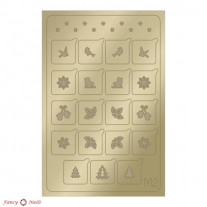 Aeropuffing Metallic Stickers - №M02 Gold