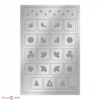 Aeropuffing Metallic Stickers - №M02 Silver