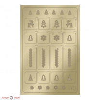 Aeropuffing Metallic Stickers - №M03 Gold