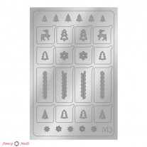 Aeropuffing Metallic Stickers - №M03 Silver