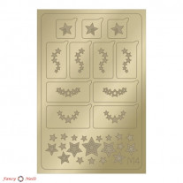 Aeropuffing Metallic Stickers - №M04 Gold