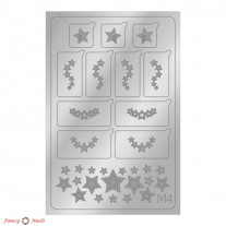 Aeropuffing Metallic Stickers - №M04 Silver