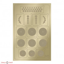 Aeropuffing Metallic Stickers - №M05 Gold