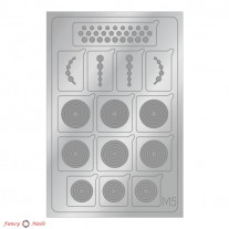 Aeropuffing Metallic Stickers - №M05 Silver