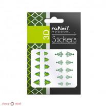ruNail 3D Наклейки для ногтей - новогодние елки