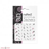 ruNail 3D Наклейки для ногтей - весна
