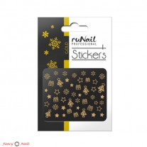 ruNail 3D Наклейки для ногтей - подарки и снежинки