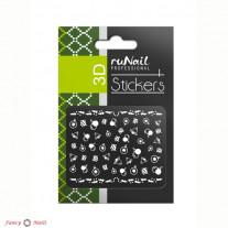 ruNail 3D Наклейки для ногтей - новогодние игрушки