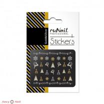 ruNail 3D Наклейки для ногтей - елки и снежинки