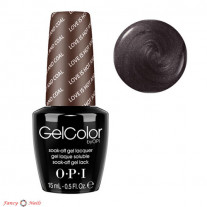 OPI GelColor F06 Love Is Hot And Coal