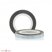 ruNail Лента для дизайна ногтей - серебряная