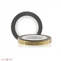ruNail Лента для дизайна ногтей - золотая