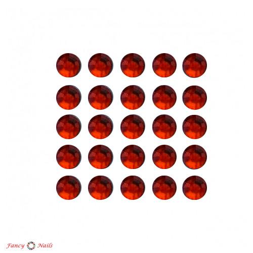 стразы для ногтей красные siam 144 шт