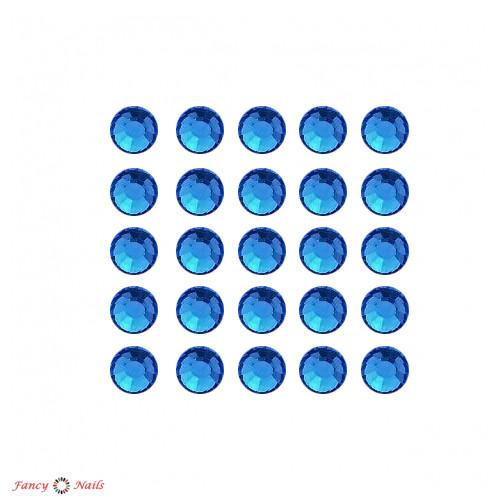 стразы для ногтей синие sapphire 144 шт