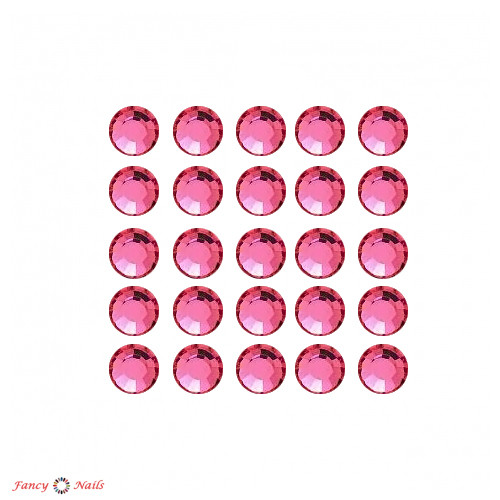 стразы для ногтей розовые pink 72 шт