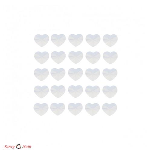 сердечки для ногтей белые