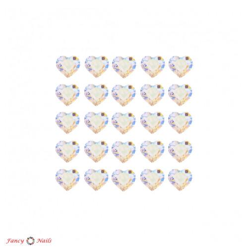 сердечки для ногтей прозрачные