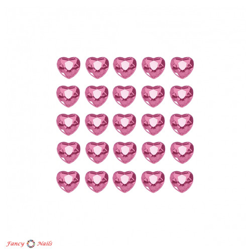 сердечки для маникюра розовые