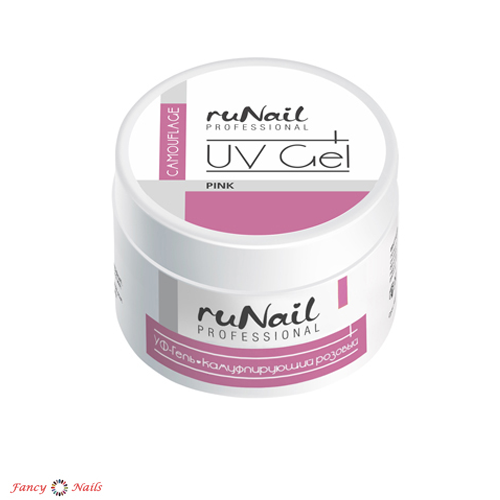 runail uv camouflage gel pink 15 г