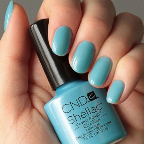 cnd shellac azure wish фото на ногтях