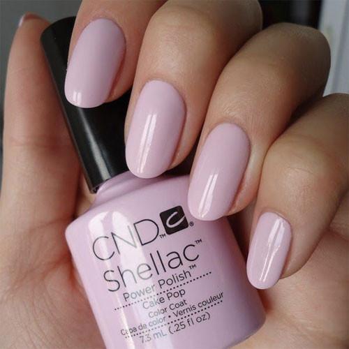 cnd shellac cake pop фото на ногтях