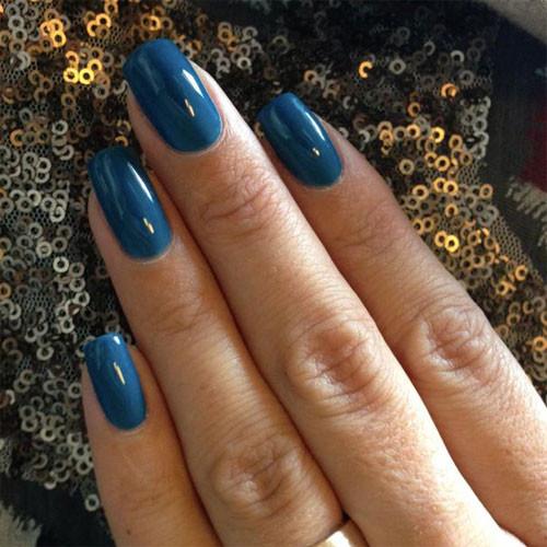 cnd shellac blue rapture фото на ногтях