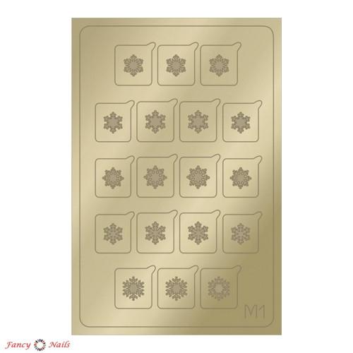 aeropuffing metallic stickers m01 gold