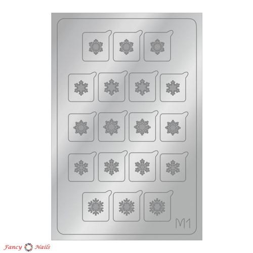 aeropuffing metallic stickers m01 silver