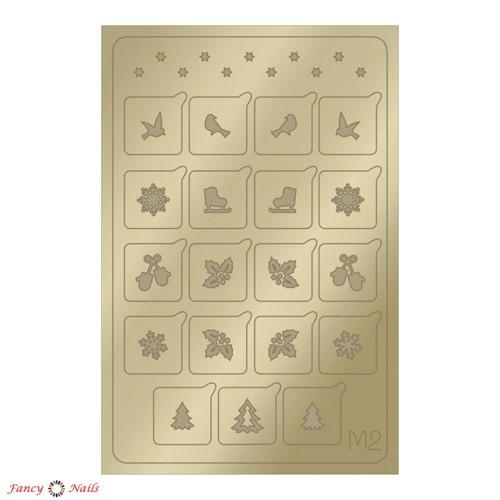 aeropuffing metallic stickers m02 gold