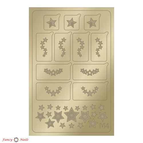 aeropuffing metallic stickers m04 gold
