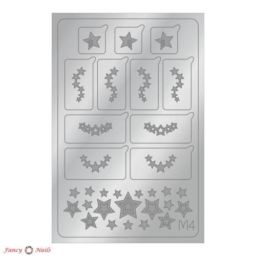 aeropuffing metallic stickers m04 silver