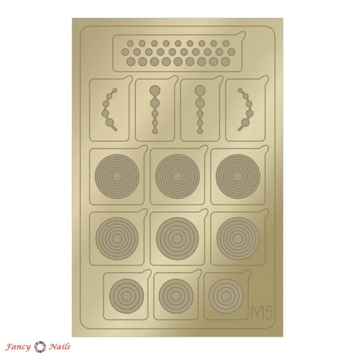 aeropuffing metallic stickers m05 gold