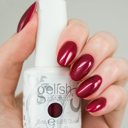 gelish what's your poinsettia 15 мл фото на ногтях