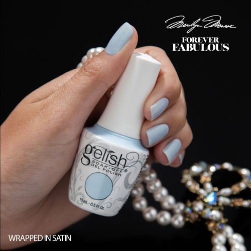 gelish wrapped in satin 15 мл фото на ногтях
