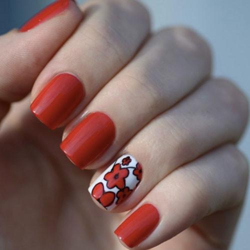 geleration 120 royal red фото на ногтях