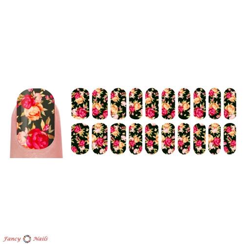 переводные наклейки для ногтей розы