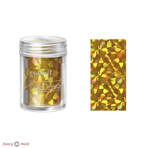 фольга для ногтей золотая голографическая