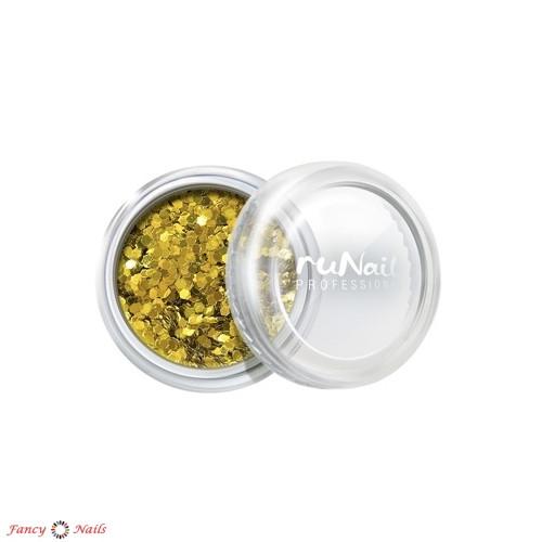 золотые конфетти для ногтей