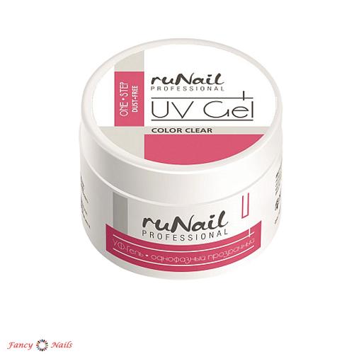 runail one step dust free uv gel clear 30 г