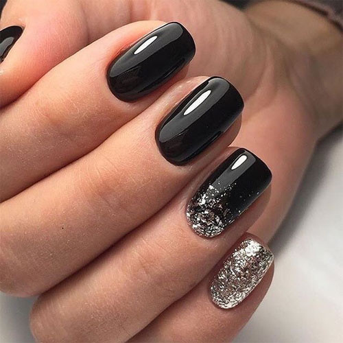 cnd shellac black pool фото на ногтях