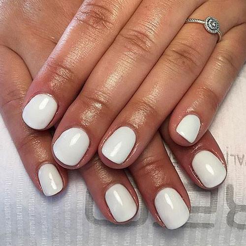 cnd shellac studio white фото на ногтях